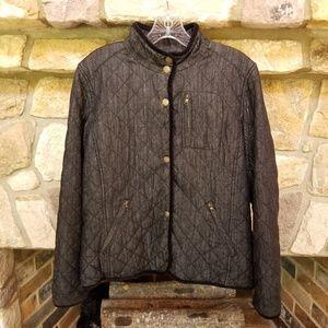 LRL Lauren Jeans Co Quilt Jean Jacket Black Large